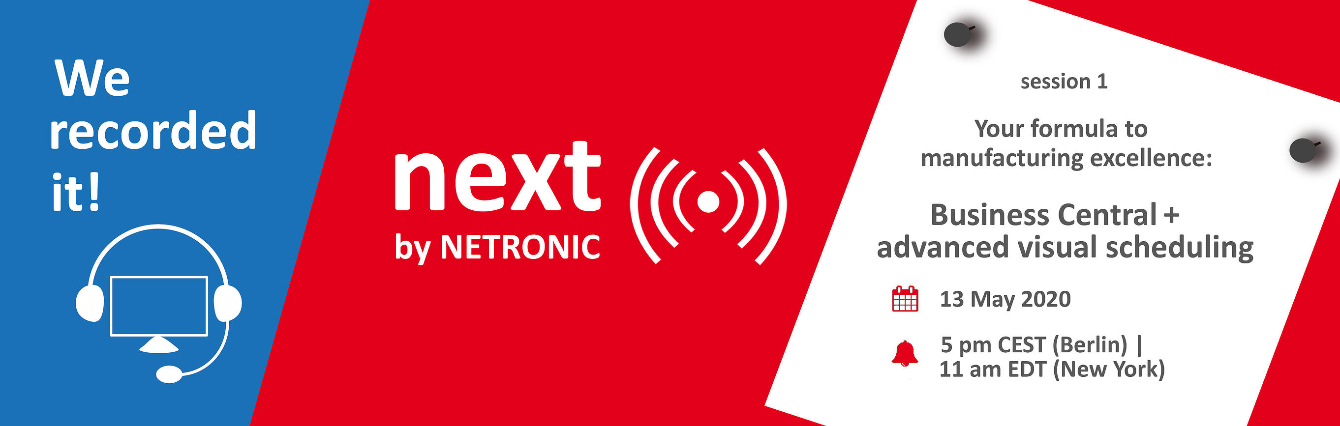 next by NETRONIC - recorded live event
