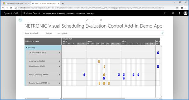 NETRONIC Control Add-in Evaluierung