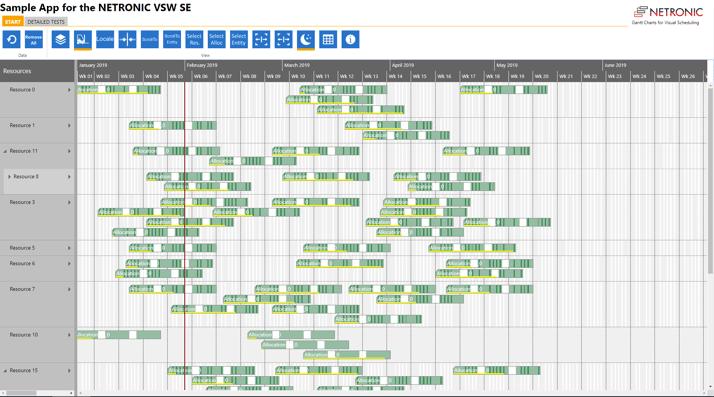 Visual Scheduling Widget evaluation - sample app